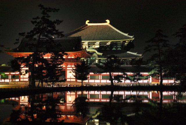 東大寺大仏殿 夜景