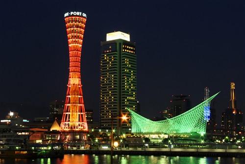 神戸中突堤の夜景