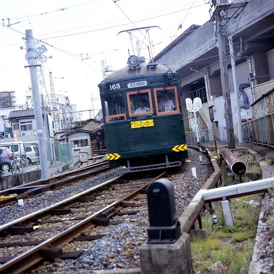 チンチン電車(住吉公園付近)