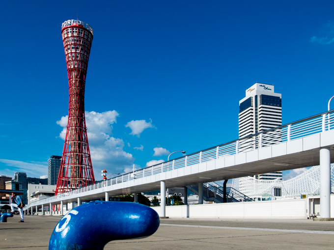 神戸ポートタワーへ自転車で往復_1